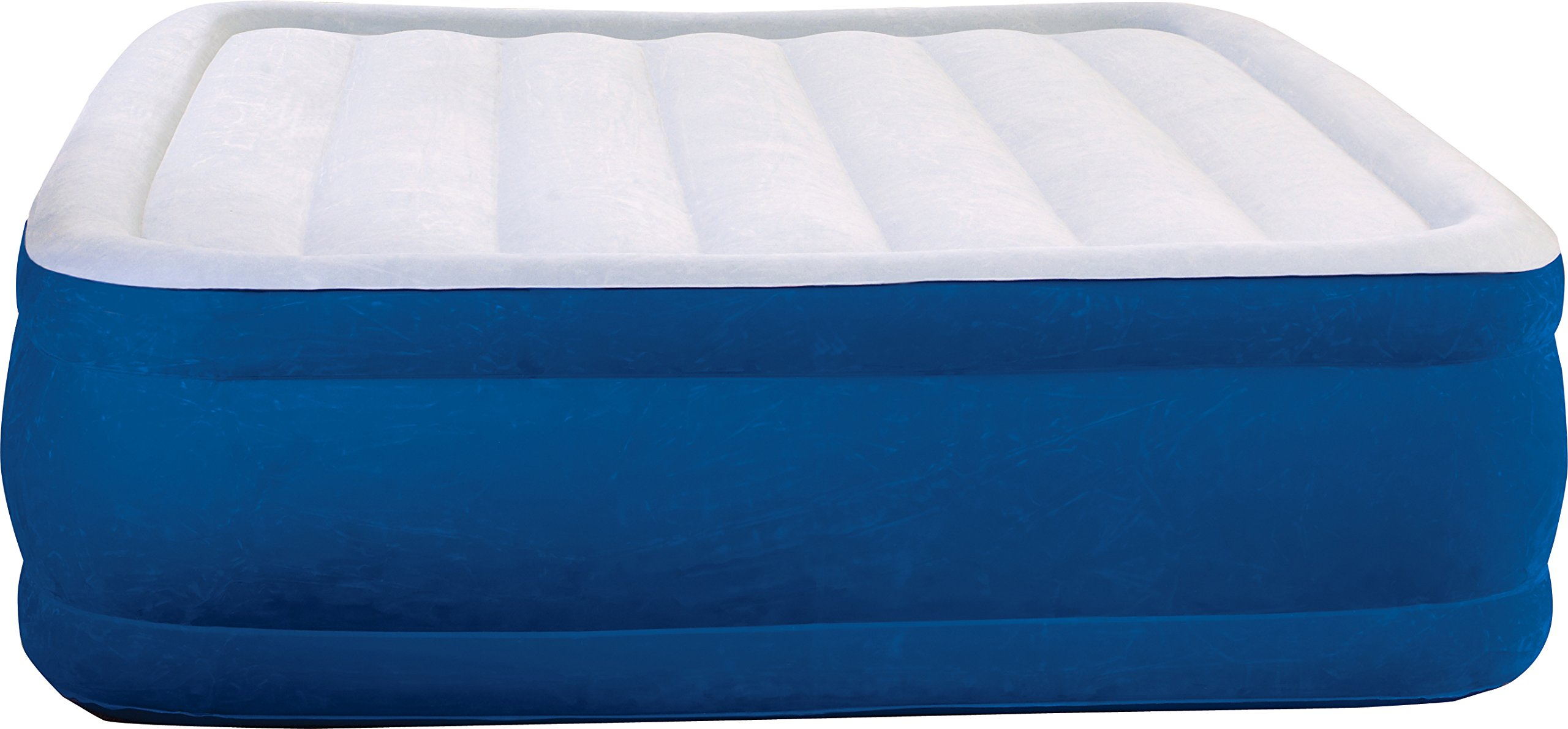 Simmons Beautyrest Plush Aire Inflatable Air Mattress: Raised-Profile Air Bed with External Pump, Queen
