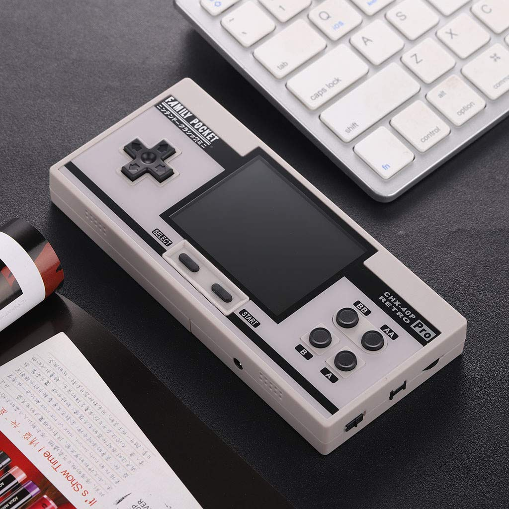 Basde Retro Handheld Classic Game Console, Mini Retro Handheld Game Console Portable Video Console Built-in 638 Classic FC Game Support 2 Player TV Output (White) by Basde (Image #3)