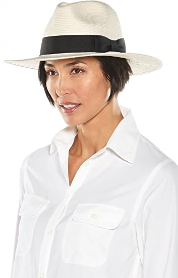 7ec74df39a6 Coolibar UPF 50+ Women s Katharine Classic Fedora - Sun Protective (One  Size- Ivory Black) at Amazon Men s Clothing store