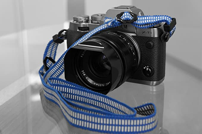 Japanese Rope Kumihimo Camera Strap With Paulowniacase ZIN DESIGN OFFICE,Cotton String 47-Inch Ivory-Purple
