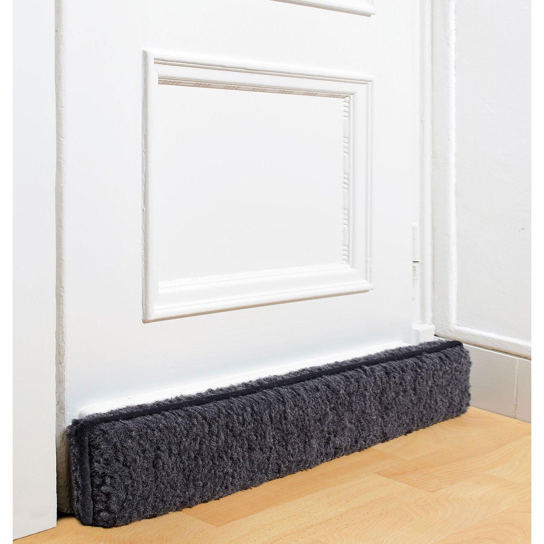 Schurwoll GmbH - Antispifferi in lana vergine, 100 x 15 x 6 cm, colore: Antracite