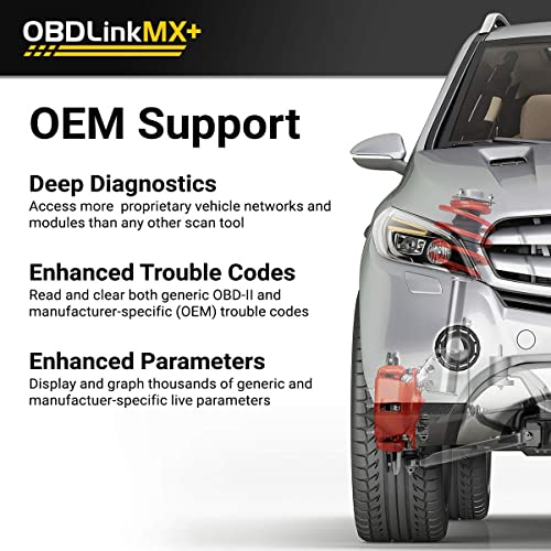 Not only do you get access to more information, you can also use the OBDLink MX+ with Windows, IOS, and Android