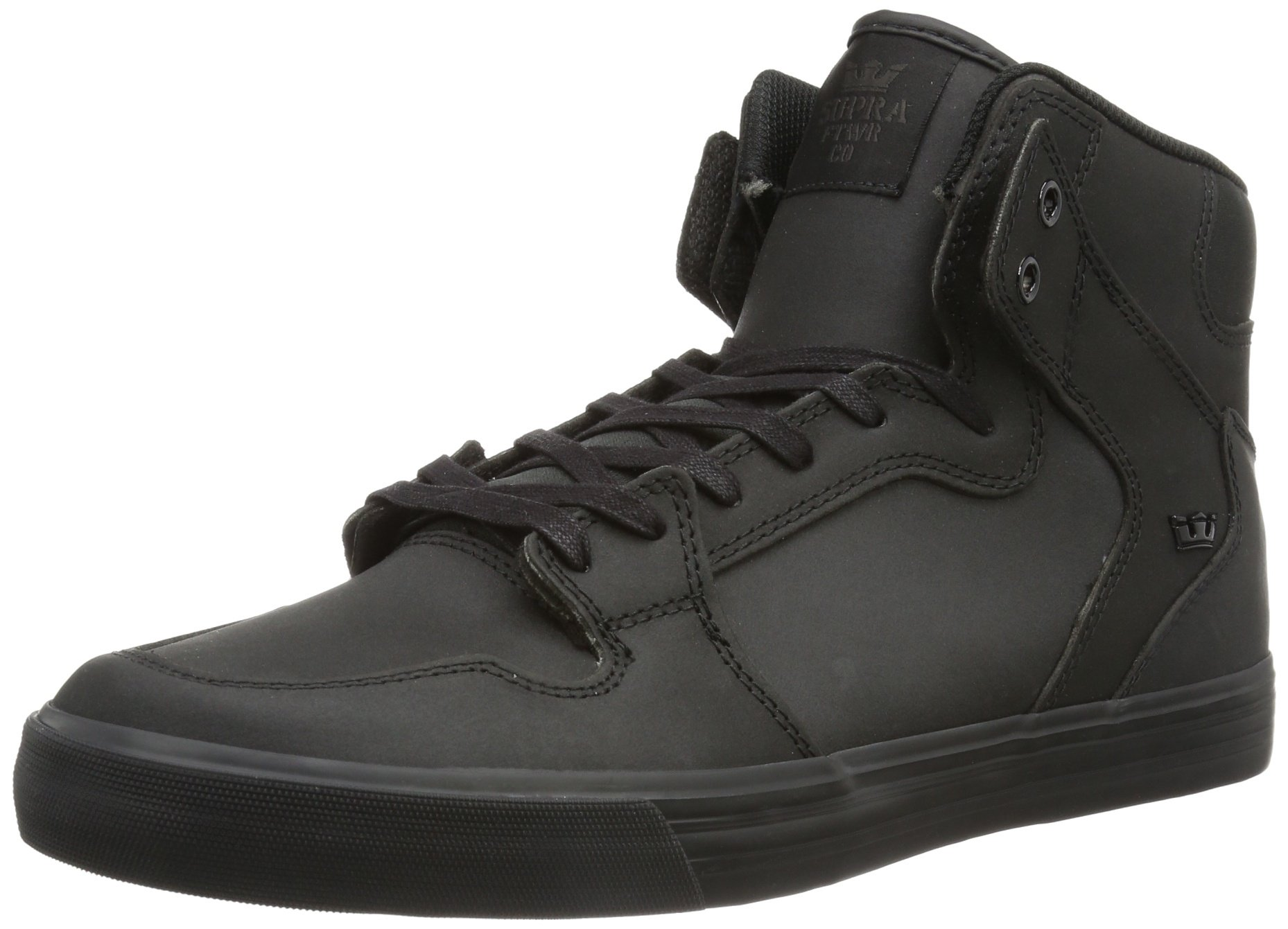 Supra Unisex Vaider Black Satin TUF Men's 10.5, Women's 12 D - Medium by Supra