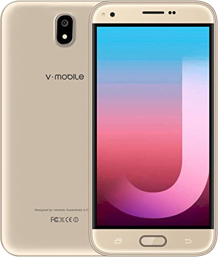 Moviles Libres Baratos 4G 16GB ROM, V·mobile J5 5,5 Pulgadas HD Smartphone Libre Android 7.0 Dual Sim Cámara 8MP Moviles Baratos y buenos WiFi GPS Bluetooth 2800mAh Móviles y Smartphones Libres -Oro: