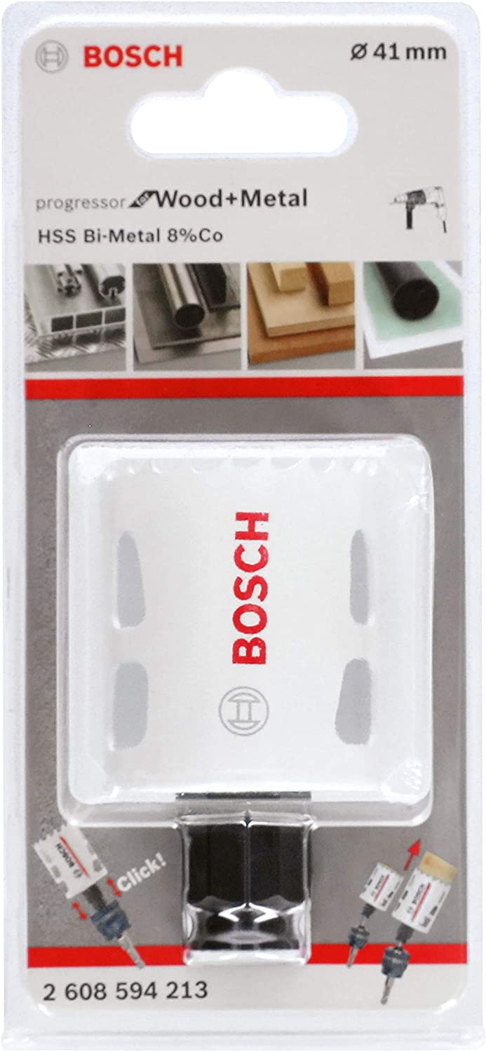 Bosch Professional Progressor for Wood and Metal Sierra de corona para madera y metal, /Ø 14/ mm, accesorios para taladro