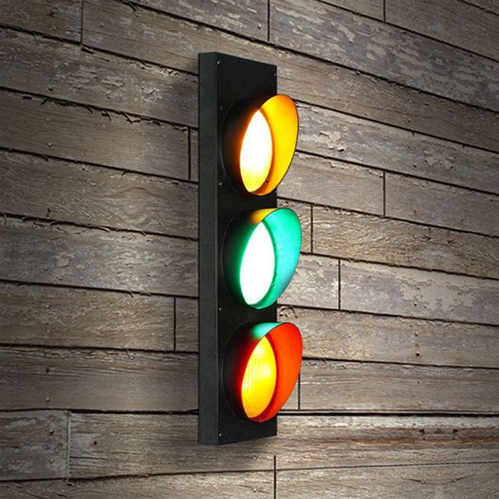 OOFAY LIGHT LED Retro Design Industriel Appliques Murales Feu Traffic Traffic Fer Forg/é M/éTal D/éCoratif Applique Bar Restaurant Cafe Nursery Creative Mur Lampe