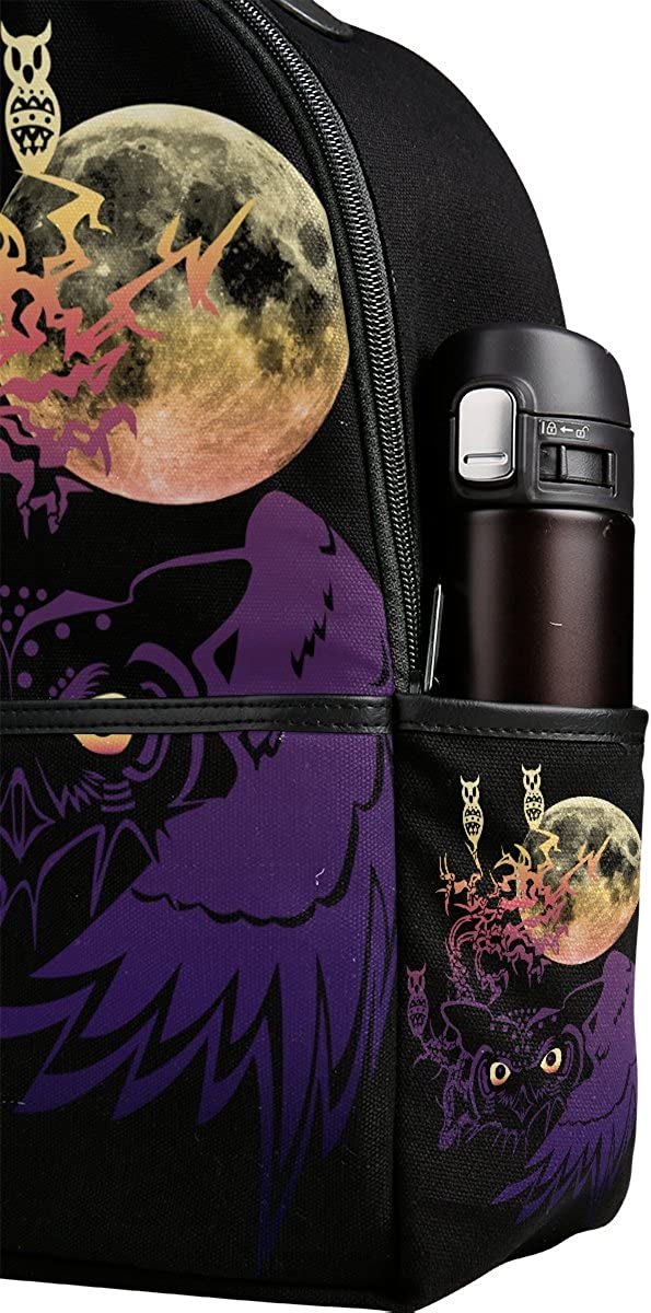 Mr.Weng Dreamater Owl Printed Canvas Backpack For Girl and Children