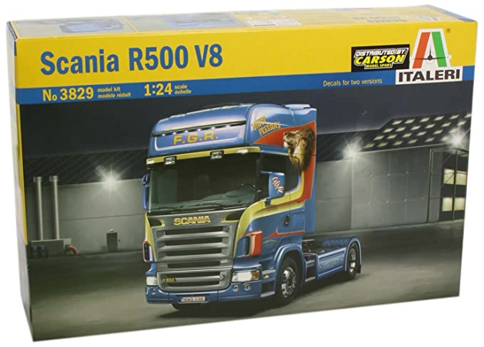 Amazon.com: # 3829 Kit de Italeri Scania R500 V8 – Maqueta 1 ...