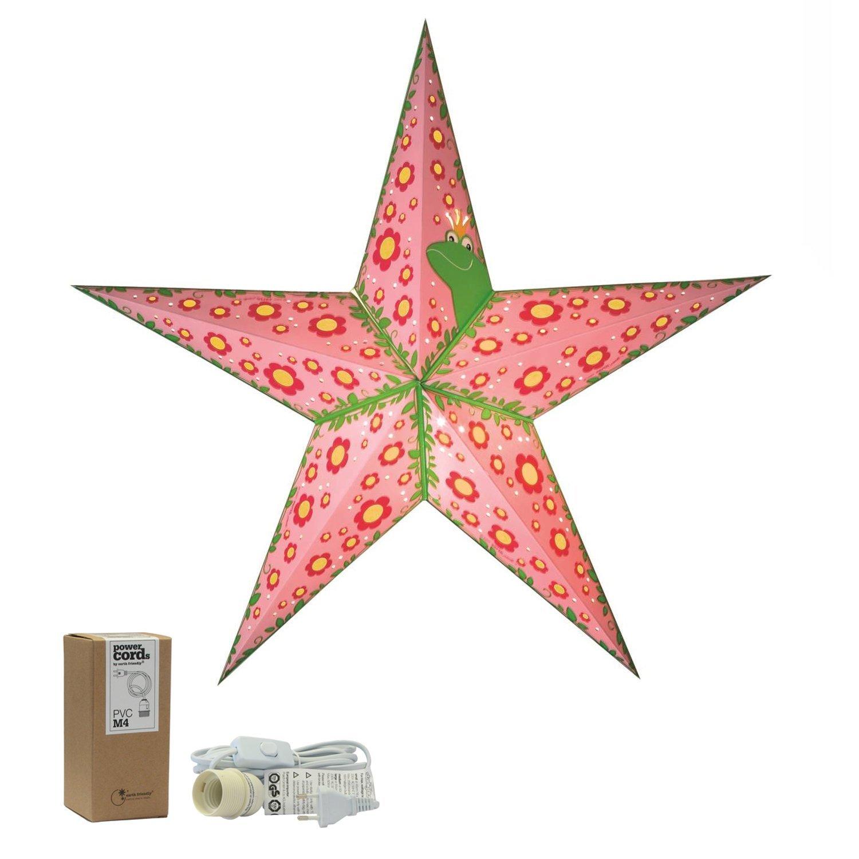 Papierstern | Leuchtstern'the pretty princess' M | Beleuchtung fü r Kinderzimmer | Sternedeko fü r Kinder | starlightz handmade | Geschenkidee fü r Mä dchen