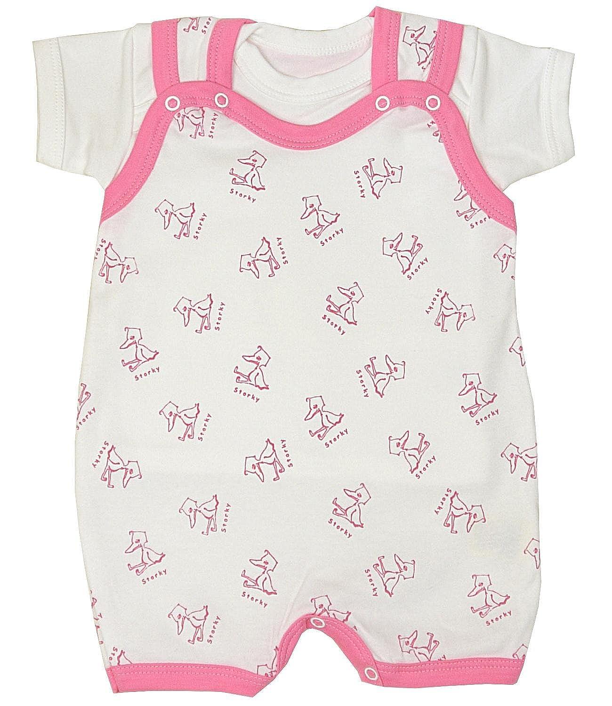 BabyPrem Baby Clothes Storky Envelope Neck T Shirt /& Poppered Romper 0-3 Months