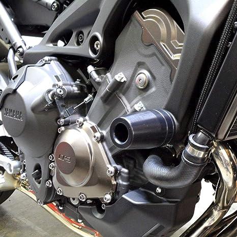Shogun Yamaha 2014-2016 FZ09 2015-2017 FJ09 2016-2019 XSR900 Black No Cut  Frame Sliders - 750-6399 - MADE IN THE USA