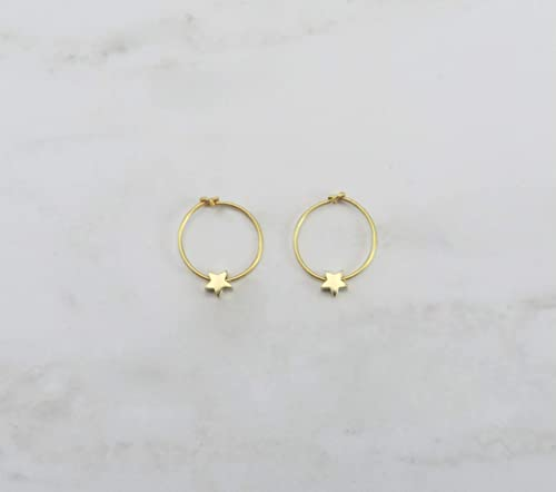 Tiny gold earrings Gift Dainty gold stud earrings Minimalist earrings | Tiny gold dangle earrings Gold charm earrings Tiny studs