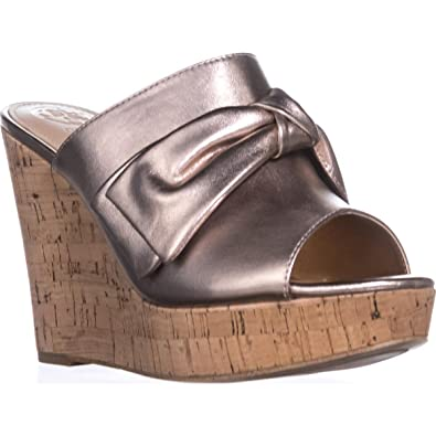 060f95c67 GUESS Womens Hotlove Leather Open Toe Casual Platform Sandals
