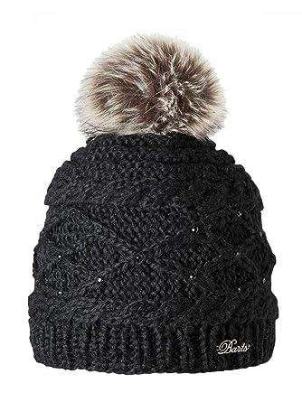 c2600db59a Barts-Bonnet Noir à Pompon Modèle Junior et Femme Strass: Amazon.fr:  Vêtements et accessoires