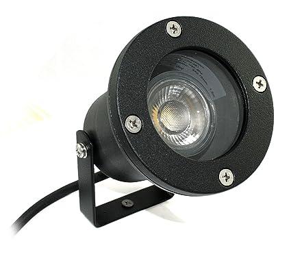 Halogen und LED Gartenleuchte Spot Piso K5071 230V IP68 Aluminium Erdspieß Außen