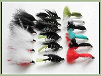 size 10 Tadpole /& Woolly Bugger Lures for Fly Fishing Mixed Colour 24 per box