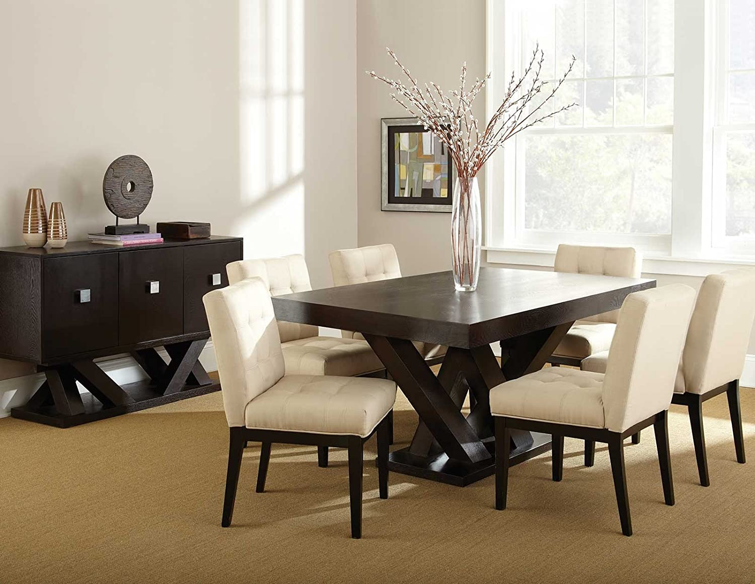 ... Silver Dining Room Set Amazon Com Steve Silver Company Tiffany Dining  Table Tables ...