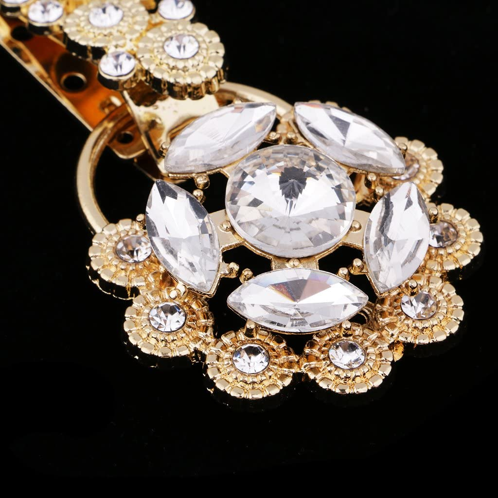 as described Light Yellow D DOLITY 1 Piece Alloy Rhinestone Duck-mouth Buckle Bling Diamante Clasp Button Garment Decoration