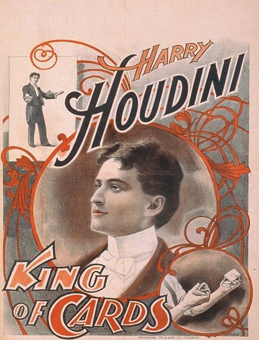 Vintage Houdini Magic 4 x 3-Feet JP London PMUR2296 uStrip Peel and Stick Removable Wall Decal Sticker Mural
