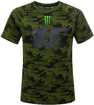 Herren T Shirt Vr46 Valentino Rossi 46 Monster Camp Camouflage Tg Xxl