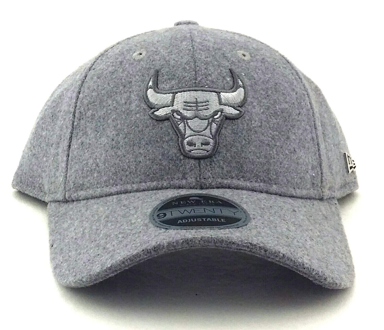 7694ae963b4 Amazon.com   New Era Chicago Bulls NBA 9Twenty Black Label Gray Wool Dad Strapback  Hat Cap   Sports   Outdoors