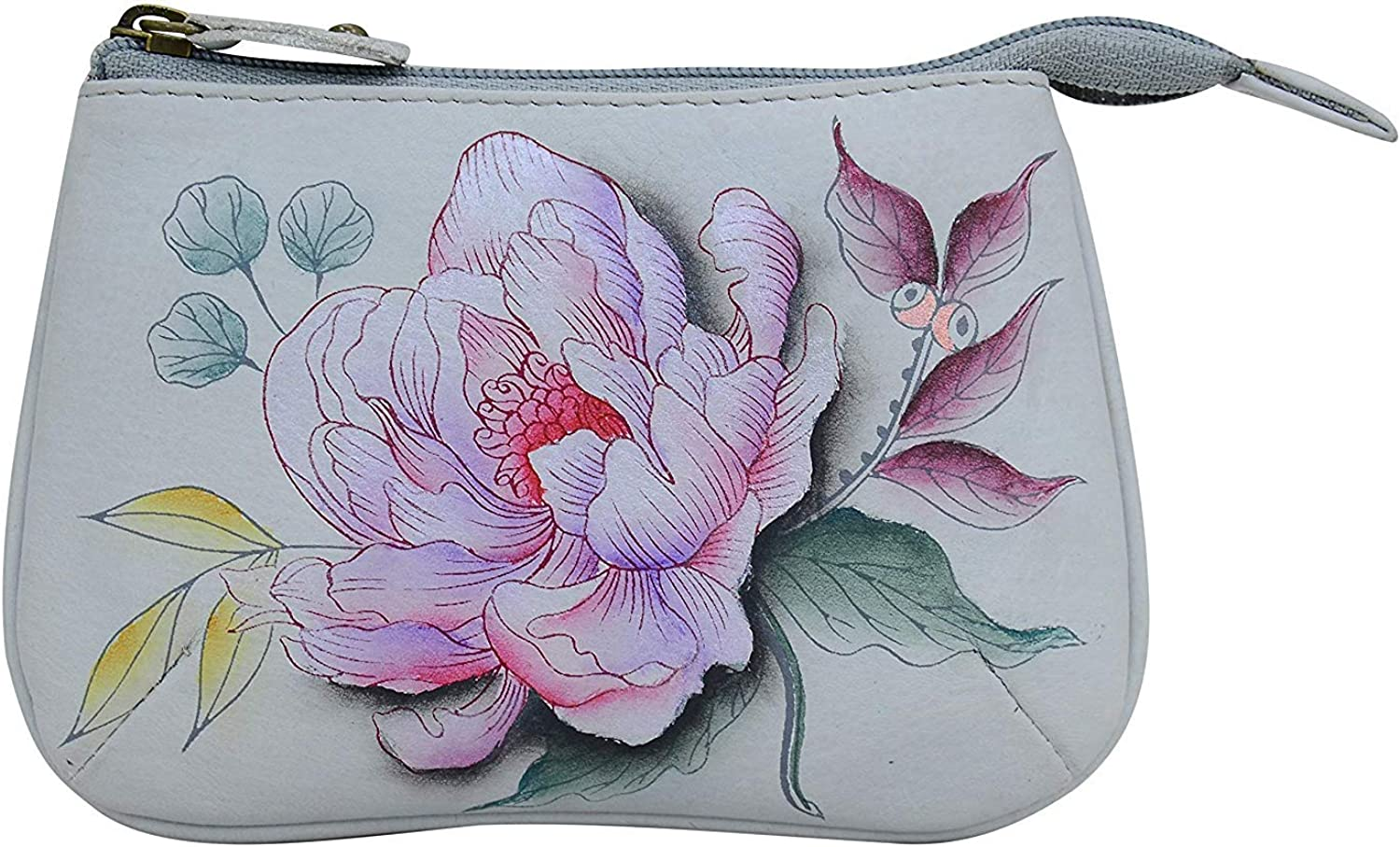 Anuschka Medium Organizer Pouch / Coin Purse |  Genuine Leather, Hand-painted Original Art