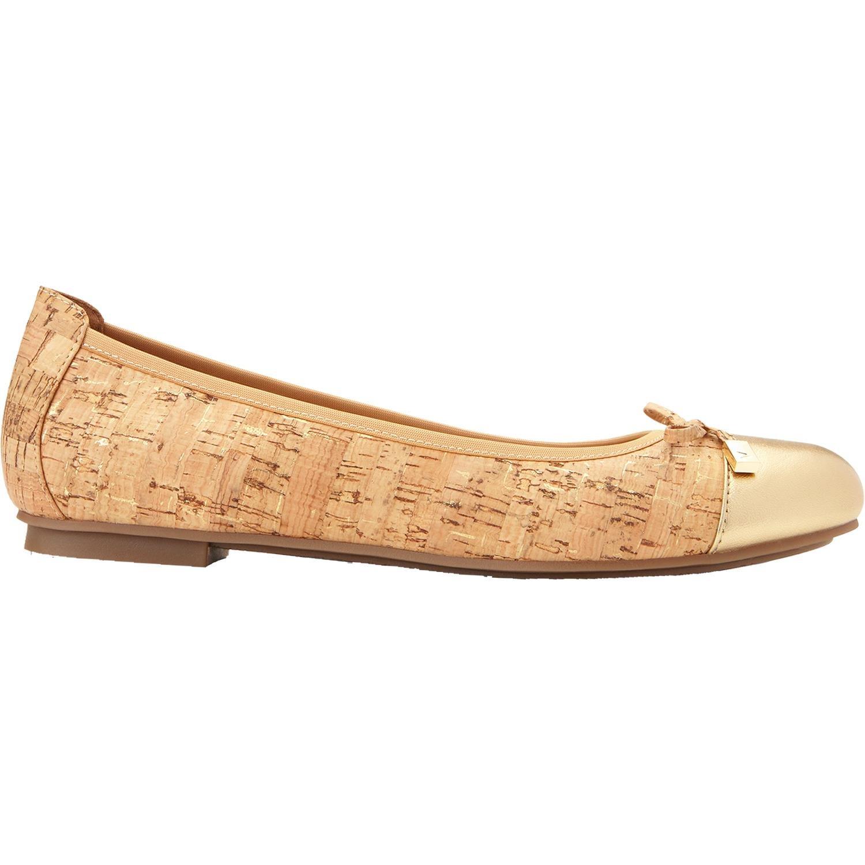 Vionic Women's Minna Ballet Flats Gold Cork 8.5 W by Vionic