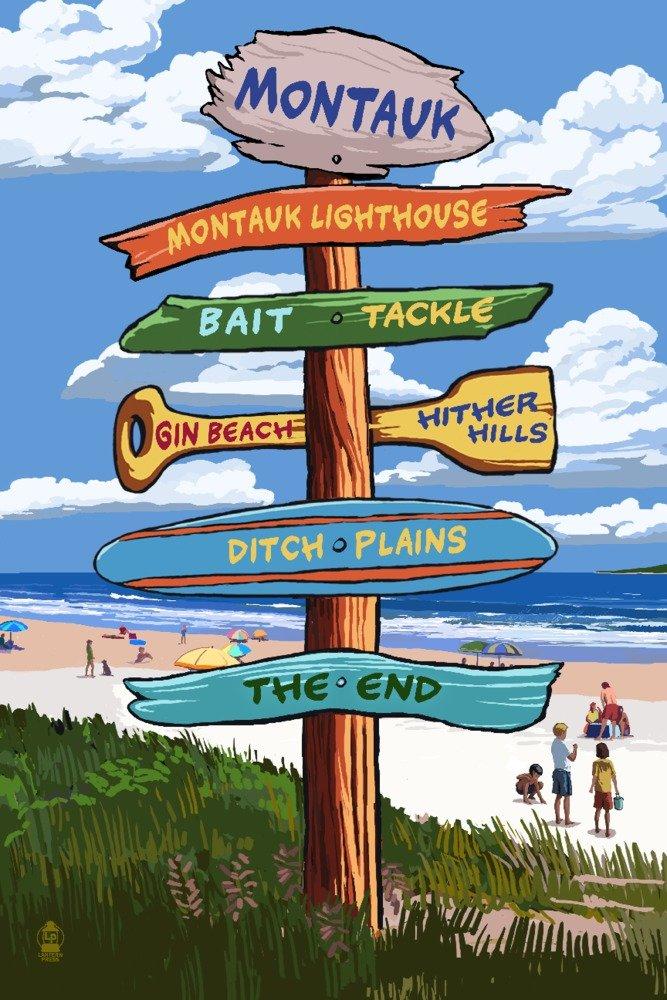 史上最も激安 Montauk、ニューヨーク – 12 9 Destination Signpost Canvas Art Tote Bag LANT-79529-TT B06XZWNJS1 9 x 12 Art Print 9 x 12 Art Print, chouchou Candle:c6e1813d --- mcrisartesanato.com.br