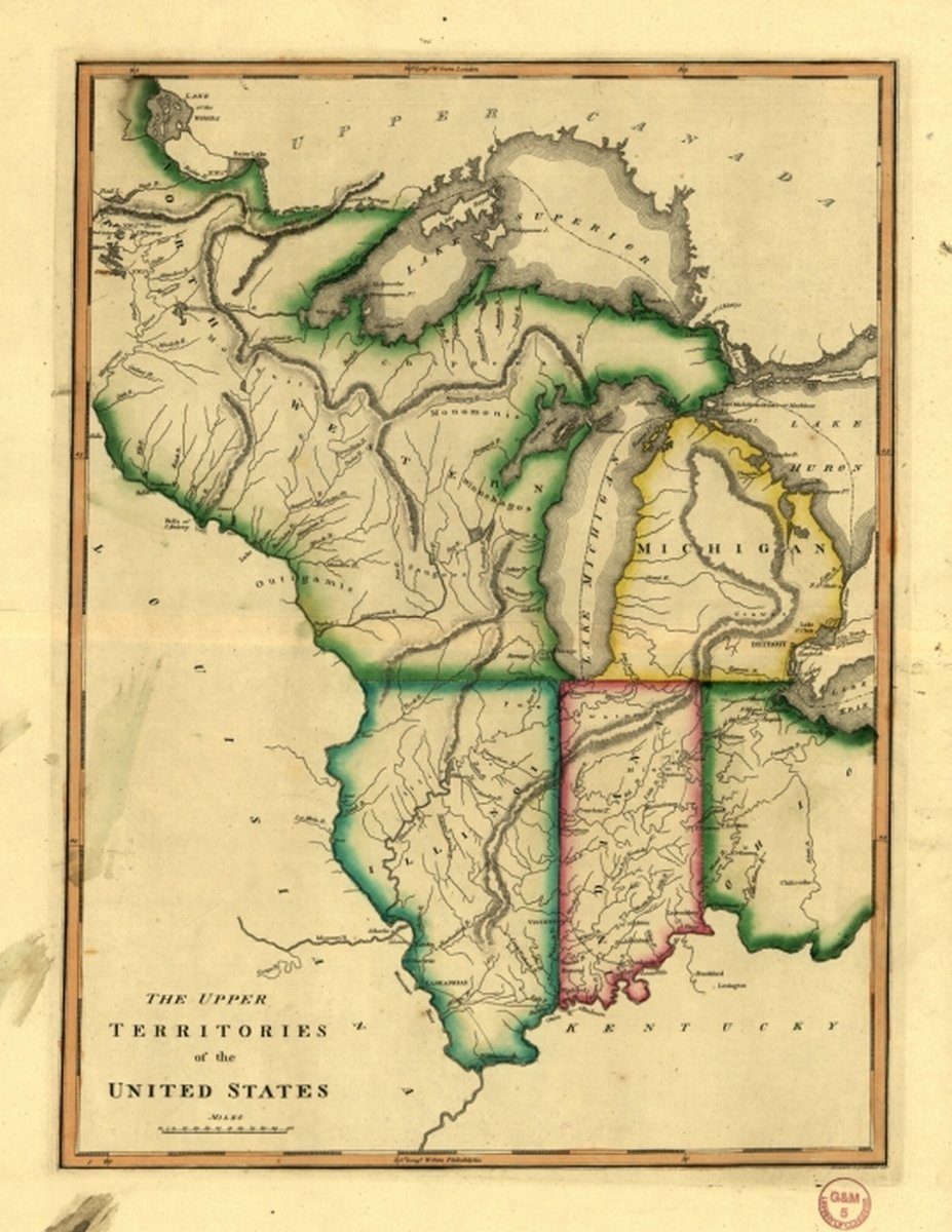 Amazon Com 1810 Map Midwest The Upper Territories Of The United