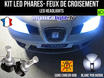 Kit Bombillas de faros LED de H4 alta performance para Seat Ibiza 3 6L faros H4: Amazon.es: Coche y moto