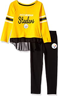 597ff921832 Outerstuff NFL Girls Mini Formation Long Sleeve Top   Legging Set