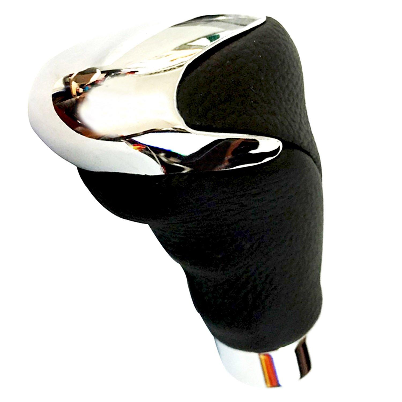 Car Shifter Stick Level Manual Automatic Shifter Head Bashineng Black Leather Gear Shift Knob
