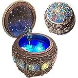 Amperer Caja de música clásico con constelaciones giratorias diosa luces LED brillantes, mecanismo de resina tallada…