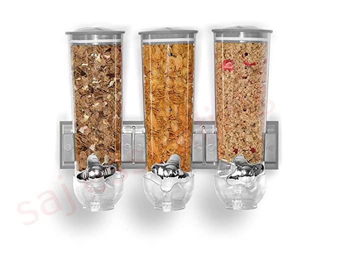 Dispensador de pared Smart Triple de Ballino para muesli y pienso seco: Amazon.es: Hogar