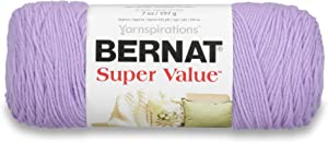 Bernat Super Value Yarn, 7 oz, Gauge 4 Medium Worsted, Lilac
