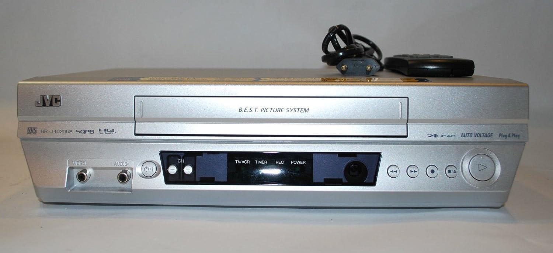 Amazon.com: VCR JVC HR-J4020UB VHS 4 Head VCR M-PAL NTSC HRJ4020UB ...