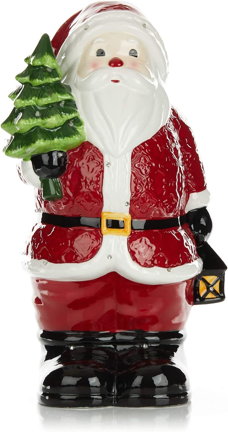 Ranking TOP7 ReLIVE Light Up Musical Ceramic Santa Max 70% OFF Decoration Inch 16 -