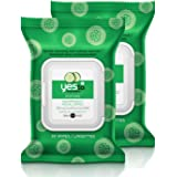 Yes To Cucumbers Soothing Hypoallergenic Facial Wipes, 30 Count (Pack of 2)
