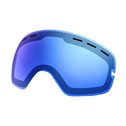 2d389ed3bbe SPOSUNE Ski Snowboard Snow Goggles Replacement Lenses UV400 Protection Anti  Fog Spherical Dual Lens for Snowmobile
