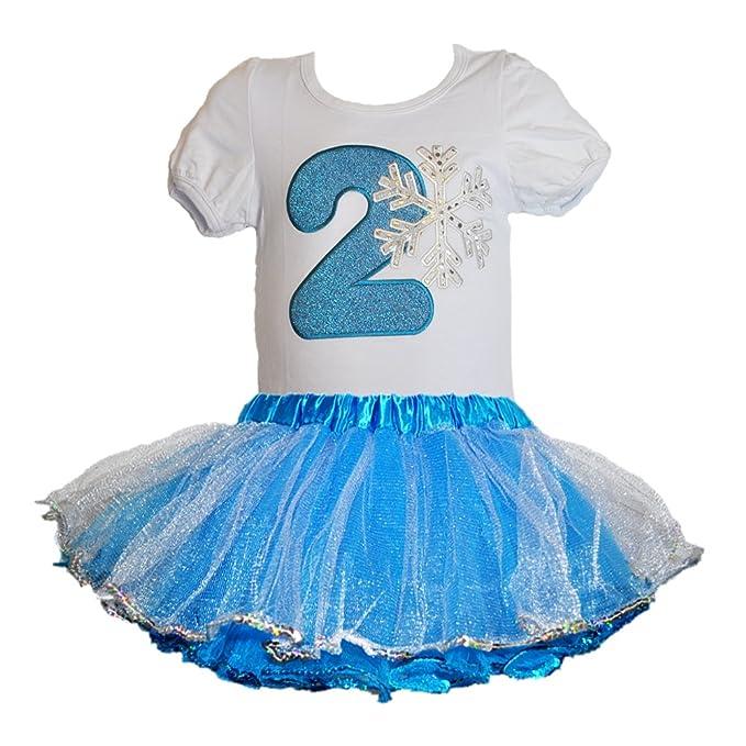 Amazon.com: Frozen copo de nieve cumpleaños número Camisa w ...