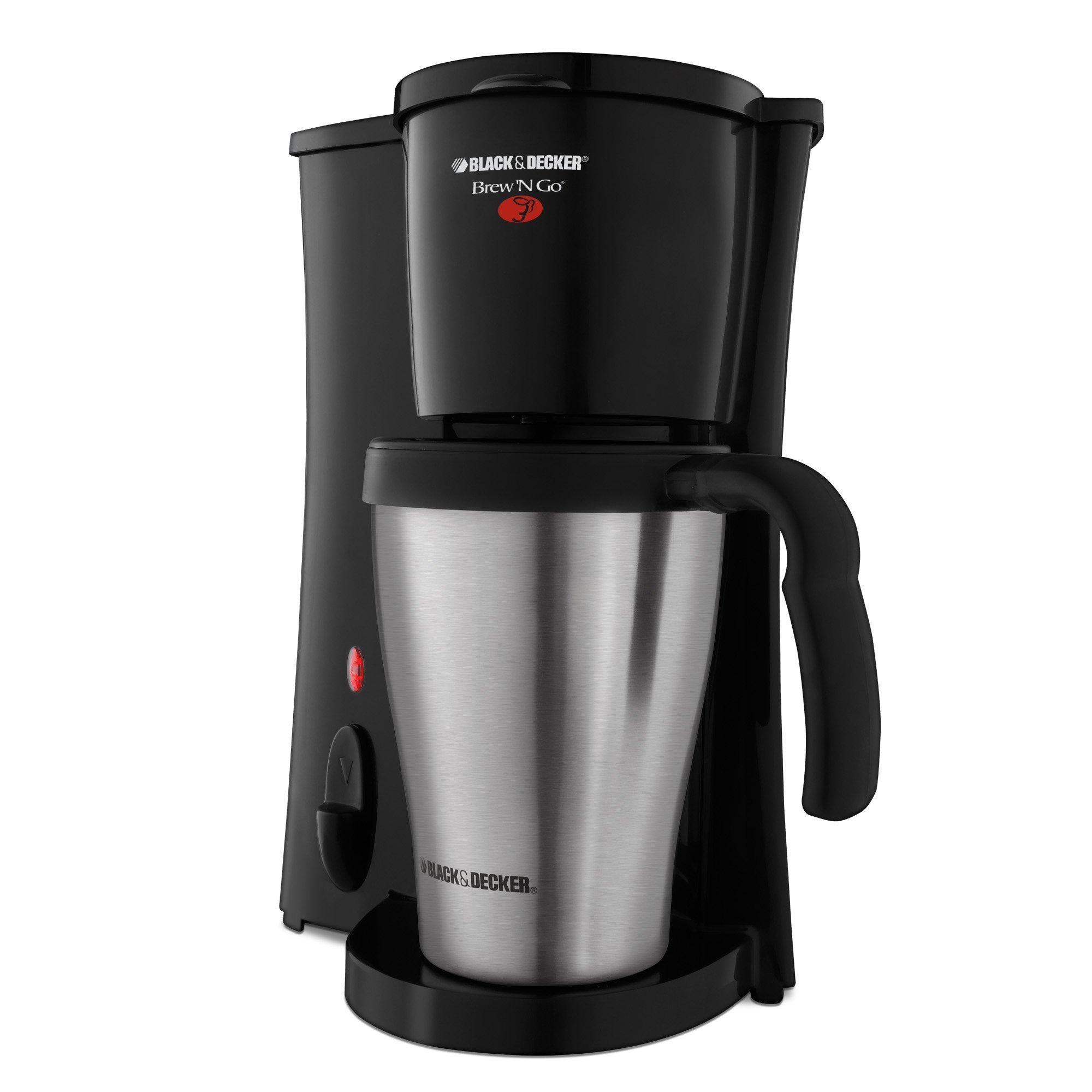 BLACK+DECKER DCM18S Brew 'n Go Personal Coffeemaker with Travel Mug, Black/Stainless Steel by Black & Decker (Image #2)