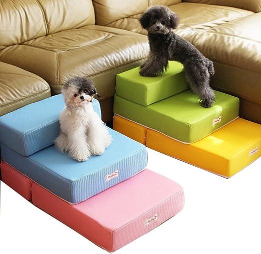 Escaleras plegables para mascotas (gatos y perros pequeños), convertibles en colchón, cojín o cama con funda de malla transpirable extraíble: Amazon.es: Productos para mascotas