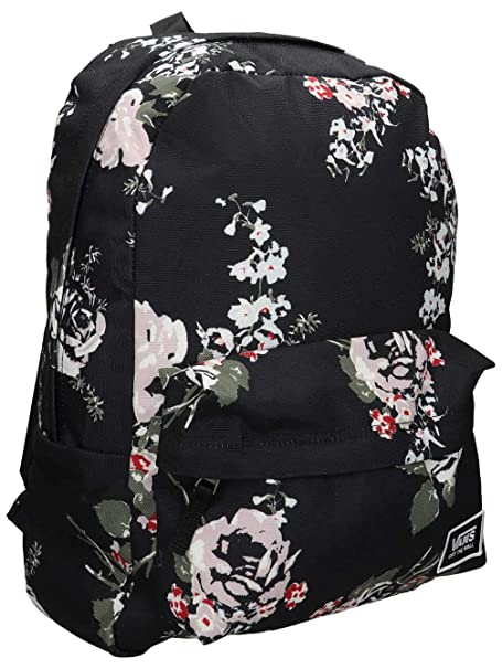 Image Unavailable. Image not available for. Color  Vans Realm Classic  Backpack Black Floral 992d65030dcd3