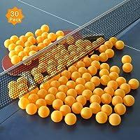 ZHENAN 30-Pack 3-Star 40+ New Material Ping Pong Balls,More Durable,Advanced Training Table Tennis Balls(Orange Practice ping Pong Ball)