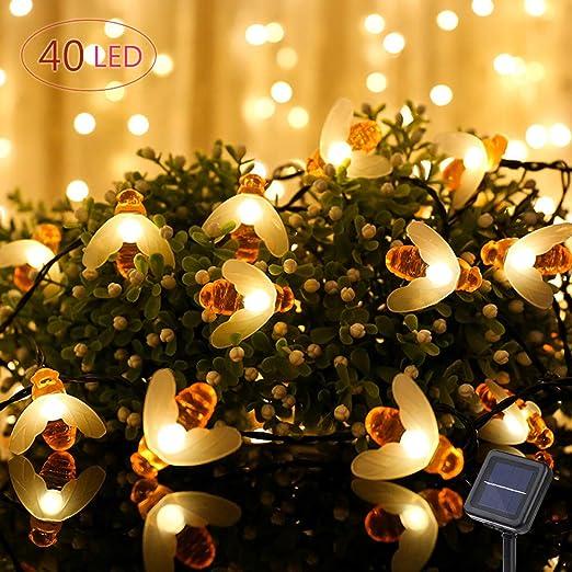 best sneakers b4e76 5396c Solar Lights Outdoor, Solar String Lights, Outdoor Waterproof Solar Powered  Garden Fairy Lights