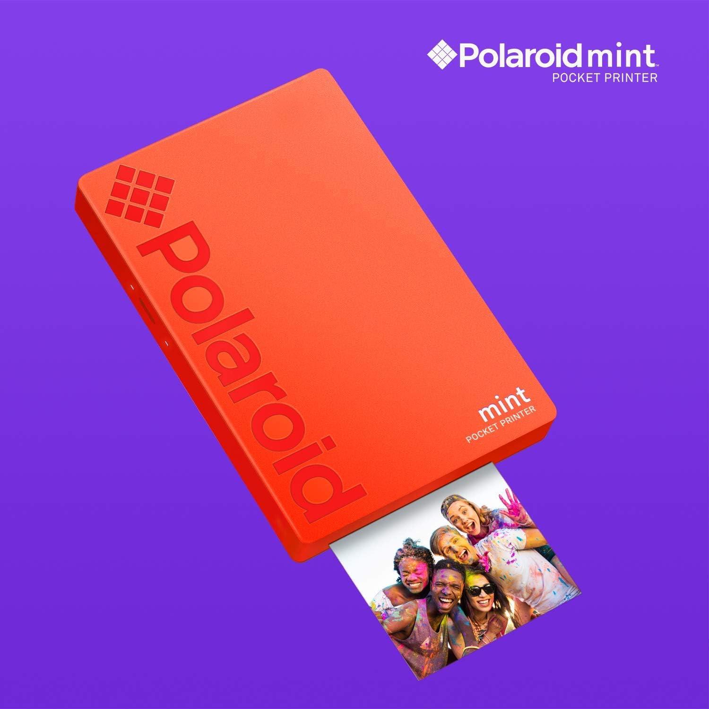 Rouge Polaroid Zip Imprimante Photo sans Fil Lot de d/épart avec /étui en n/éopr/ène