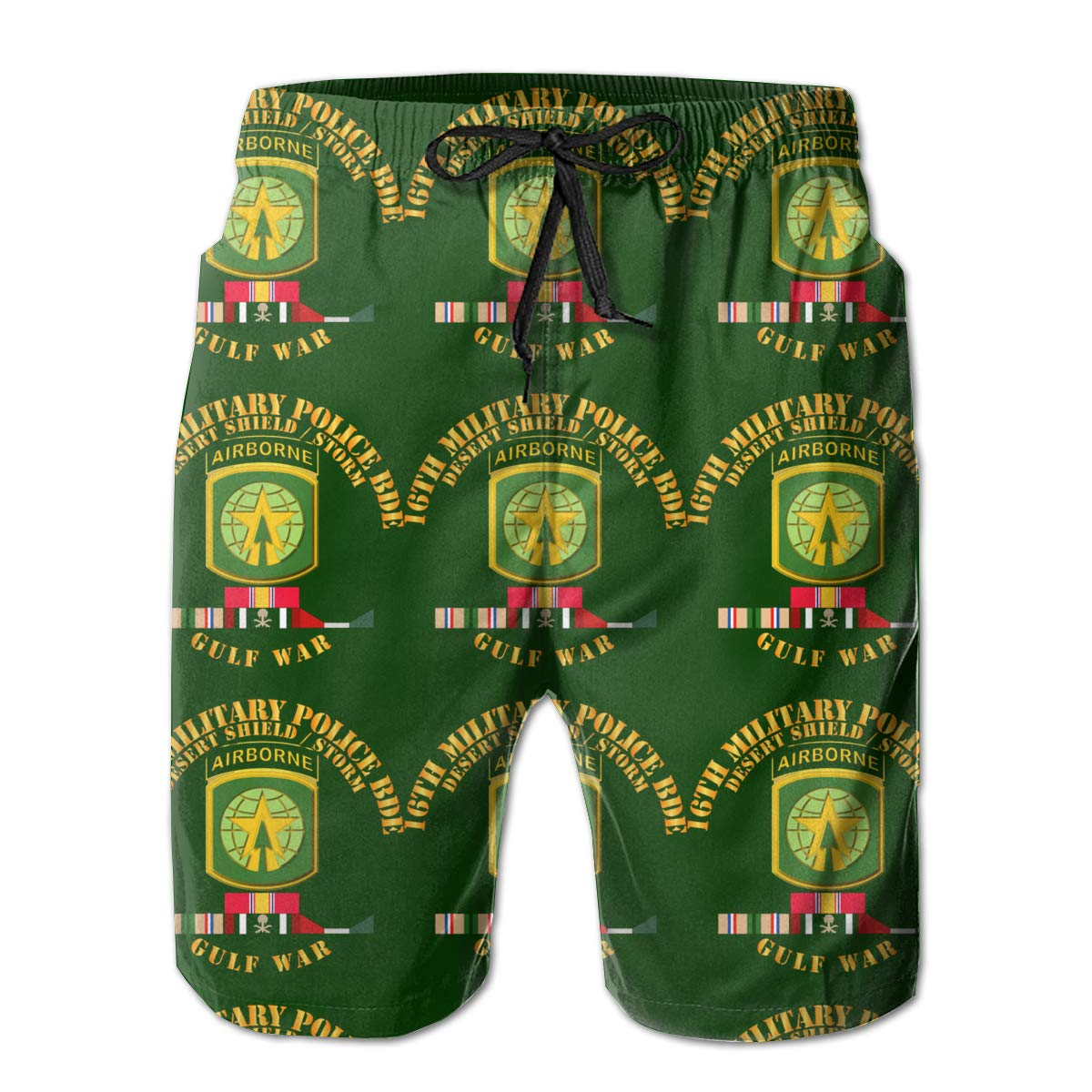 You Know And Good 16th Military Police BDE Desert Storm Shield Mens Swim Trunks Bathing Suit Beach Shorts
