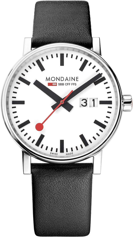 Mondaine Evo2 - Reloj de Cuero Negro para Hombre y Mujer, MSE.40210.LB, 40 MM