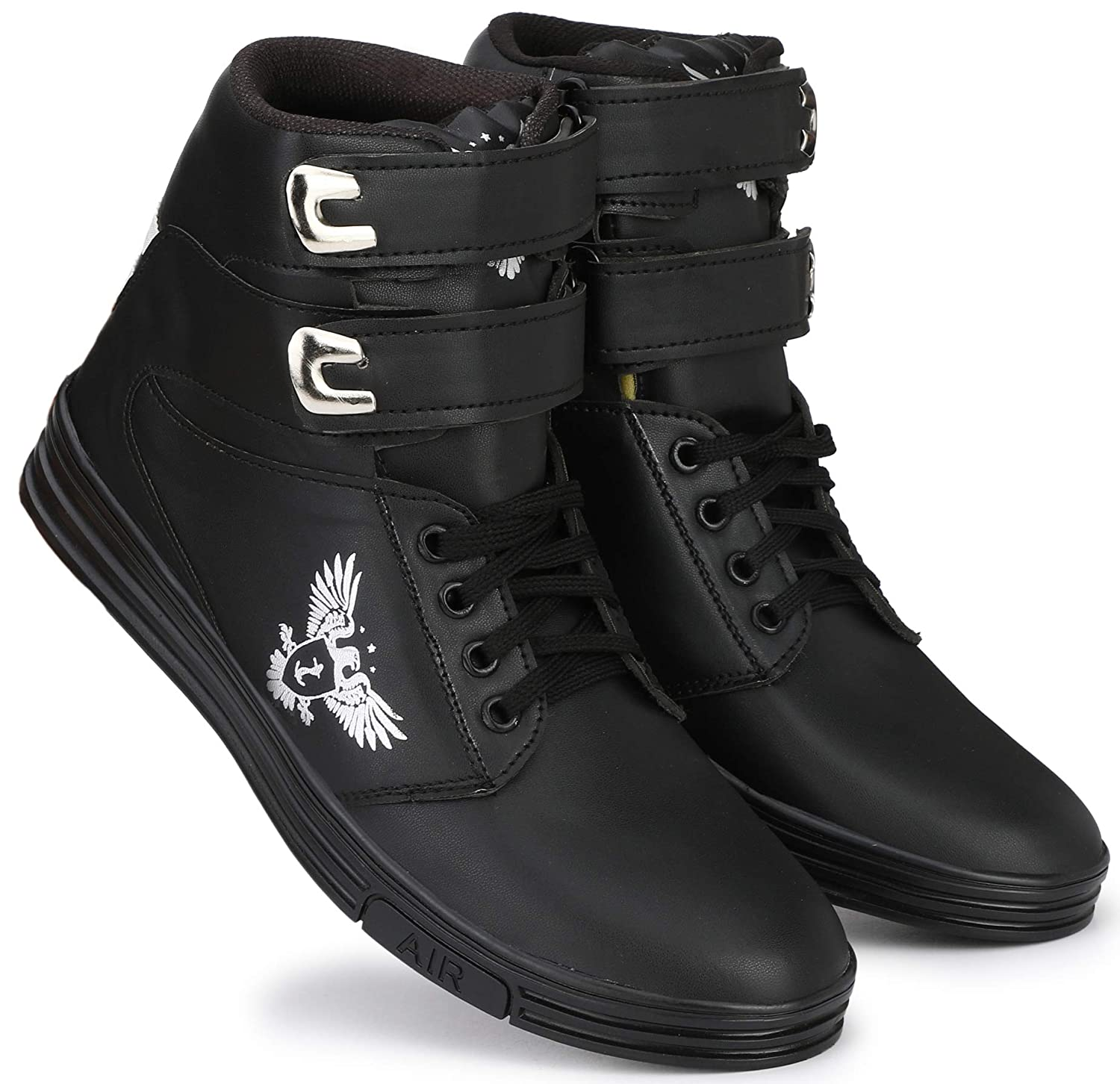f69bb4fb374e79 Flooristo Funky Mid-Ankle High Neck Sneakers Casual Boots Shoes for Mens/Boys:  Buy Online at Low Prices in India - Amazon.in