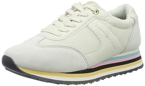 Tommy Hilfiger Tommy Stripe Retro Sneaker, Zapatillas para Mujer: Amazon.es: Zapatos y complementos